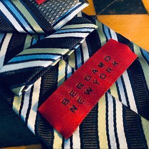 Bergamo New York Blue Stripe Mens Tie